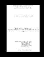 Ứng dụng của enzym trong nghiên cứu, phân tích và trong y học