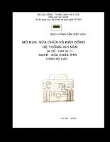 Tài liệu sách hướng dẫn giáo viên sửa chữa và bảo dưỡng hệ thống khí nén