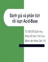 Đánh giá và phân tích RỐI LOẠN ACID-BASE