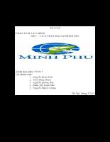 Phân tích tài chính - công ty cổ phần thủy hải sản Minh Phú.doc