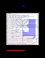 Câu hỏi và đáp án Đồ Án Bê Tông Cốt Thép 1