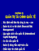 Slide bài giảng kinh doanh quốc tế - Chương 12