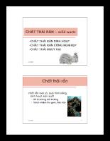 Chất thải rắn - solid waste - P1