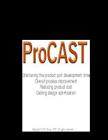 ProCAST General Presentation