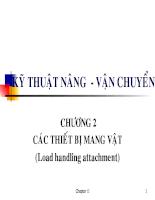 Kỹ thuật nâng - vận chuyển - Chương 2