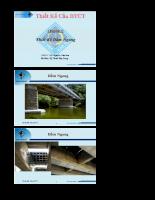 Giáo trình kết cấu cầu bê tông cốt thép - Chương 5