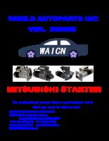 Catalogue Hệ thống khởi động Mitsubishi (MÁY ĐỀ MITSUBISHI_STARTER)