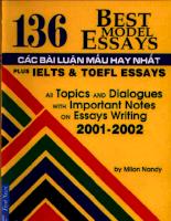 Tài liệu 136 Best Models Essays