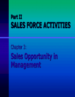 Sales opportunity in management