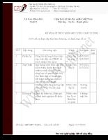 Kế hoạch - 100% hồ sơ được sắp xếp theo trình tự, có danh mục hồ sơ