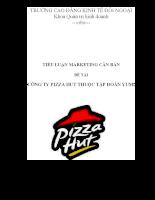 Công ty pizza hut thuộc tập đoàn yum