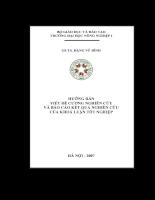 Hướng dẫn viết đề cương nghiên cứu và báo cáo kết quả nghiên cứu của khoá luận tốt nghiệp