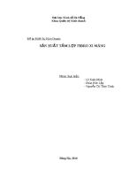 Đề án Khởi Sự Kinh Doanh Sản xuất tấm lợp Fibro xi măng (Fibro cement).pdf