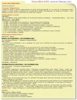 mẫu CV chi tiết để xin việc cho người mới ra trường