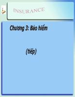 Bài giảng lý thuyết tài chính tiền tệ - chương 3 - Bảo hiểm