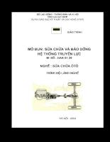 Tài liệu sửa chữa và bảo dưỡng hệ thống truyền lực