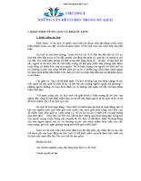 Chương I Những vấn đề cơ bản trong du lịch
