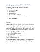 Kỹ năng bảo mật và phân tích sự cố trên Windows 2000, XP, Windows Server 2003