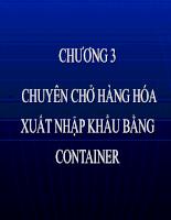 Slide bài giảng môn vận tải quốc tế - Chương Container