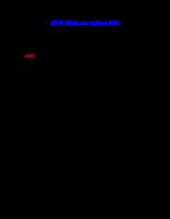 Đề thi kế toán Agribank 2008