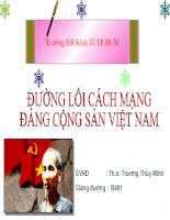 Đường Lối Đấu Tranh Giành Chính Quyền (1930-1945)