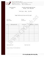 Mẫu Phiếu thông báo thay đổi tài liệu của ủy ban nhân dân tỉnh