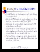Các tính chất của NNPNC