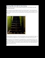 Những điều cần biết khi xây dựng cầu thang