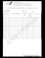 Mẫu Sổ theo dõi phiếu thông tin khách hàng