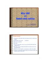 Bài giảng máy CNC và robot công nghiệp