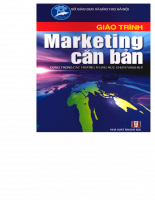 Giáo trình Marketing căn bản đầy đủ nhất dành cho sinh viên kinh tế