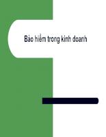 Slide bài giảng Bảo hiểm trong kinh doanh - Chương 1