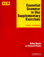 Cambridge University Press Essential Grammar In Use Supplementary Exercises