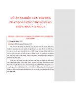 Đồ án nghiên cứu phương pháp đo lường trong giao thức BICC và MGCP
