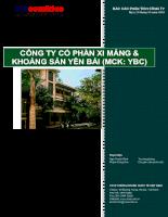 báo cáo phân tích cổ phiếu công ty cổ phần xi măng và khoáng sản Yên Bái YBC.pdf