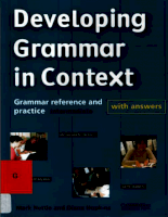 Cambridge University Press Devoloping Grammar In Context