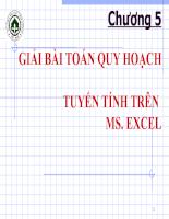 Tin học ứng dụng trong ngành kế toán Chương 5