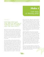 Điều tra quốc gia về vị thành niên và thanh niên Việt Nam tại 43 tỉnh thành (SAVI) năm 2003 - Bộ Y tế _phần 1 chương 1