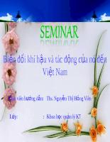 Biến đổi khí hậu và tác động của nó đến Việt Nam