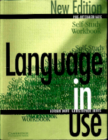 Cambridge University Press Language In Use - Pre-Intermediate - Self-Study Workbook