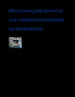 Đổi mới phương pháp phân tích lợi nhuận trong các doanh nghiệp dệt may ở việt nam