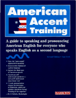 Barrons Press American Accent Training