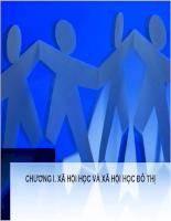 Bài giảng xã hội học đô thị - P2