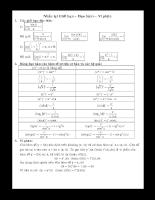 Chuyên đề nguyên hàm _tích phân hay danh cho các bạn