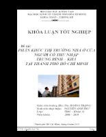 Phân khúc thị trường nhà ở cho người có thu nhập Trung bình & Khá tại Tp. Hồ Chí Minh