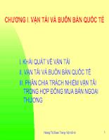 Slide bài giảng Vận tải và Bảo hiểm của cô Hoàng Thị Đoan Trang-FTU