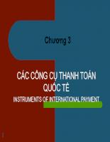 Các phương tiện thanh toán quốc tế