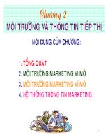 Bài giảng marketing quốc tế CHAPTER 2