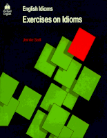 Oxford University Press - Exercises On Idioms  - Seidl