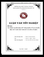 Luận văn tốt nghiệp ĐH Ngoại Thương - So sánh chuẩn mực kế toán quốc tế (IAS16,38) và chuẩn mực kế toán Việt Nam về tài sản cố định (VAS03,04).DOC